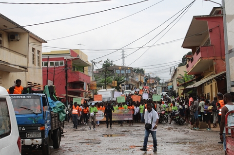 Marcha contra violência