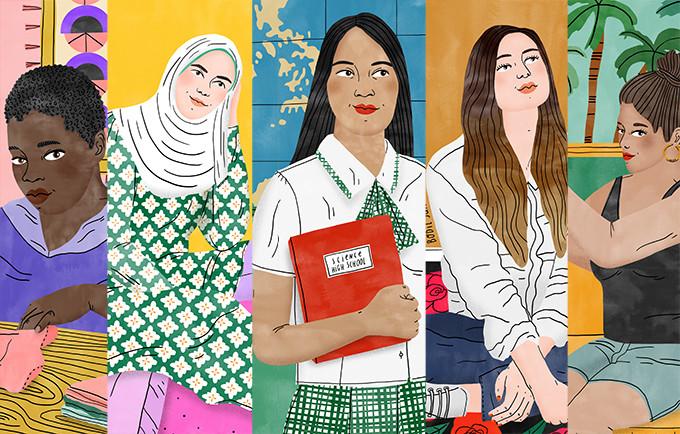 Ilustração de Bodil Jane para o UNFPA